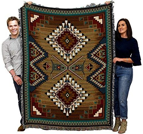 Pure Country Brazos Geometric Woven Throw Cotton Made