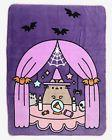Pusheen Halloween Scene Plush Throw Blanket Witch Hat Crysta