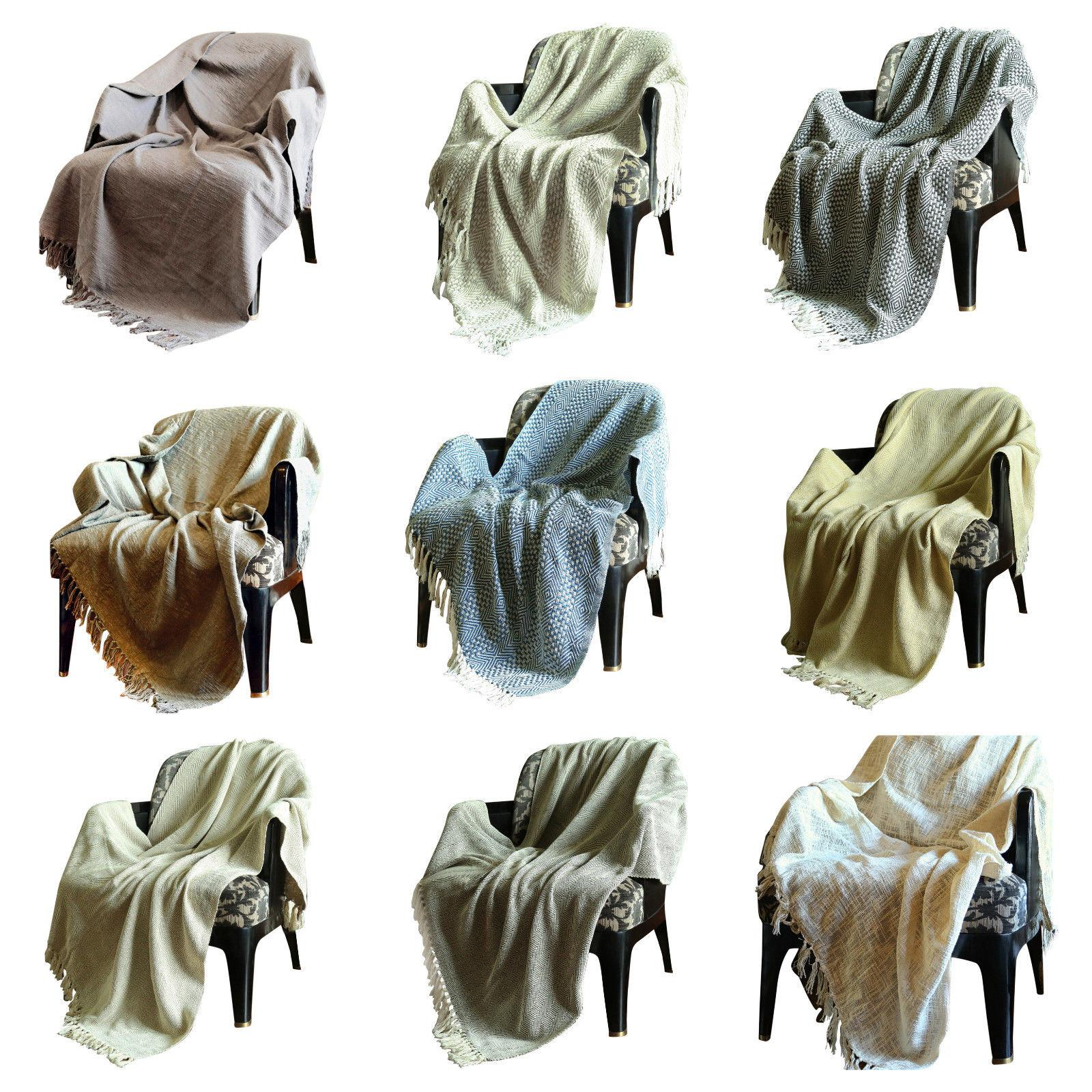 Reversible Throw Blankets For Sofa and Couch Home Decor Thro