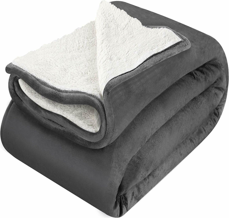 Sherpa Fleece Blanket Extra Soft Fabric Bedding