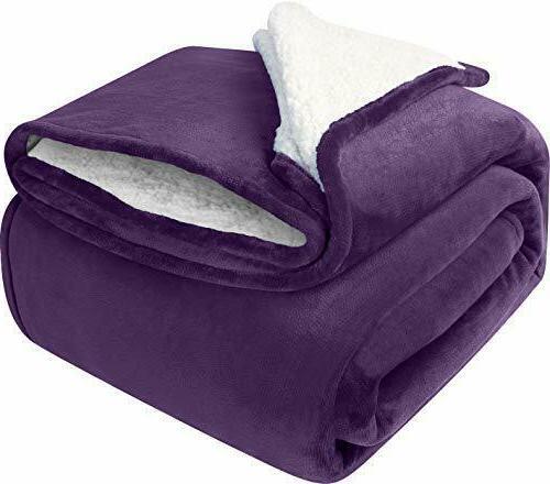 Sherpa Fleece Reversible Blanket Fabric Utopia Bedding