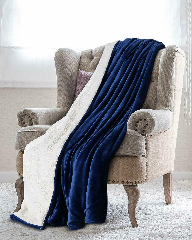 Sherpa Reversible Blanket Soft Fabric