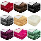 Sherpa Throw Blanket, Microfiber Velvet Soft Borrego Reversi