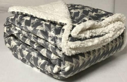 "Sherpa Throw Luxury Blanket Twin Size 60""x80"" Velvet Flannel"