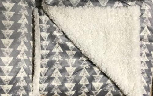 """Sherpa Twin Size 60""""x80"""" Velvet Flannel"""