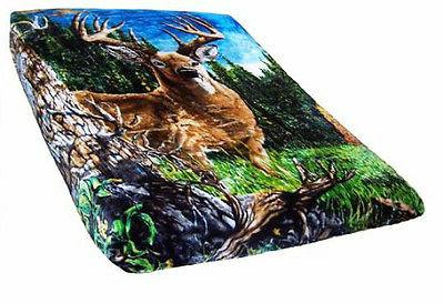 Signature Collection 9 Deer Camo Super Soft Fleece Throw Bla