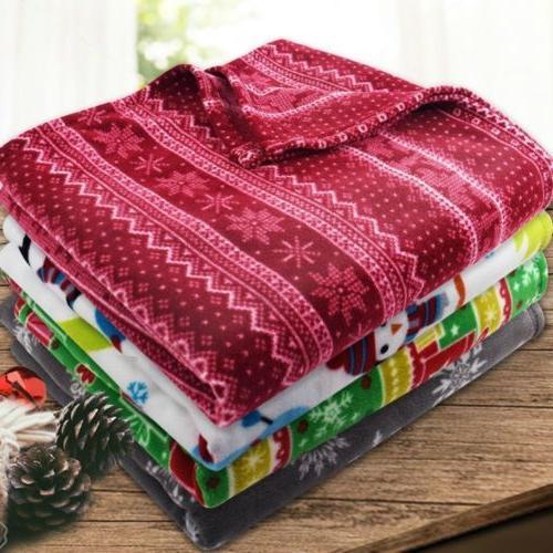 "Soft Fleece Throw Blanket - 50"" X 60"" - Great Gift! - By Cla"