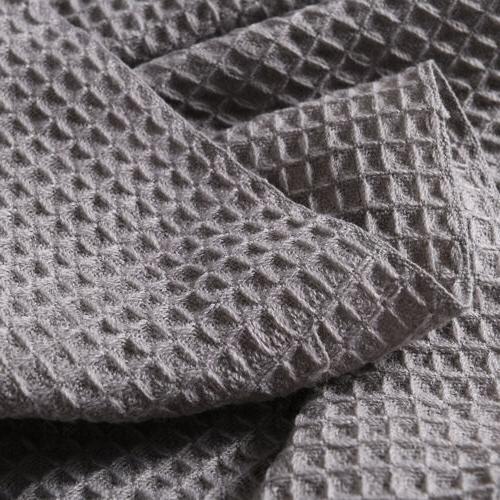 Soft Bed Decorative Fringe Waffle Pattern