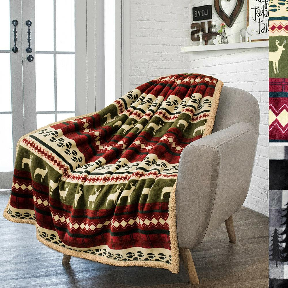 Soft Winter Blanket Flannel Checkered Throw