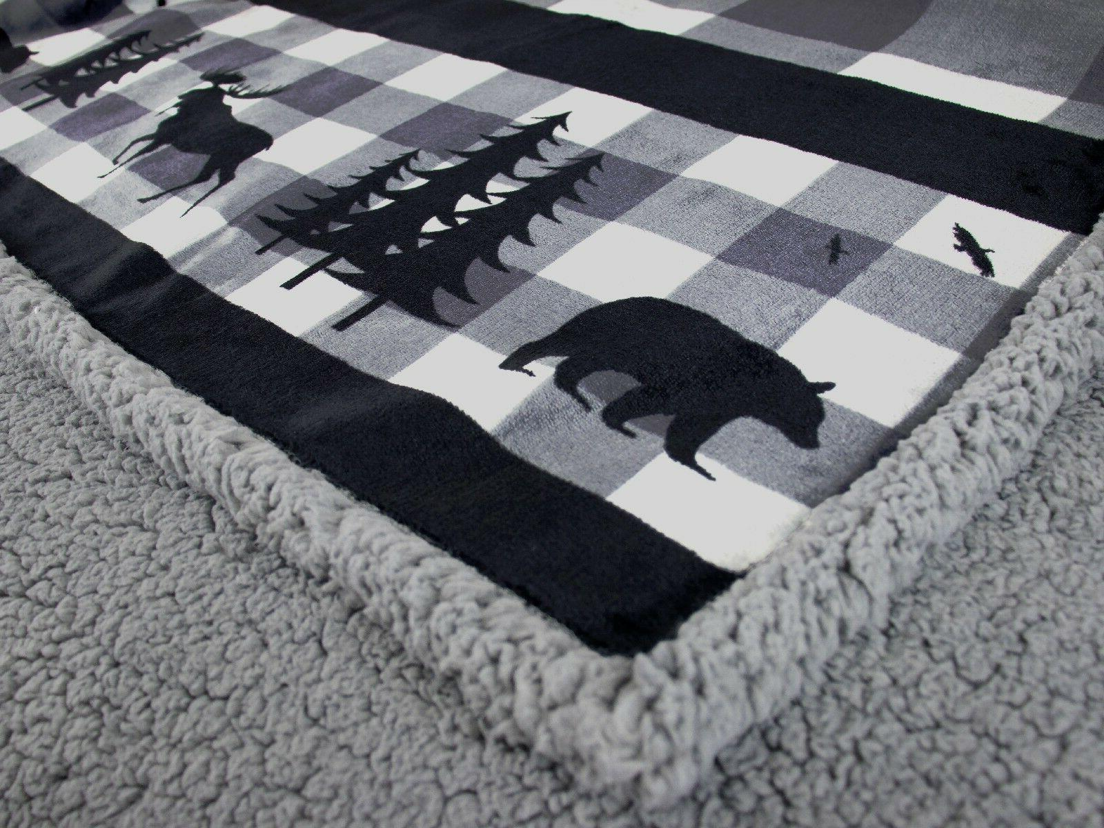 Soft Cabin Blanket Checkered Blanket