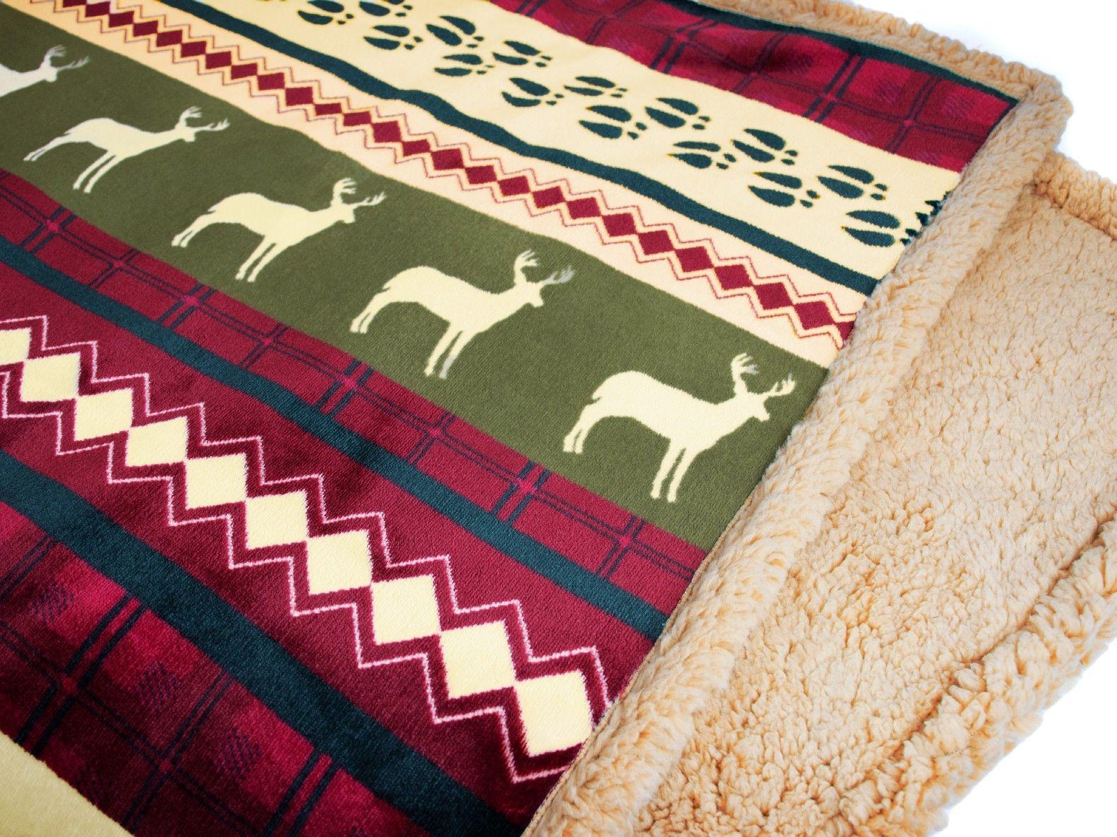 Soft Winter Blanket Striped Checkered