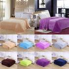 Super Soft Plush Fleece Bed Sofa Throw Blanket 8 Solid Color