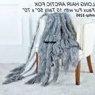 Throw Blanket  LONG HAIR  FOX Faux Fur Throw  with 10 Tails