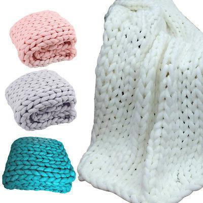 Handmade Chunky Knit Bulky Knitted Throw
