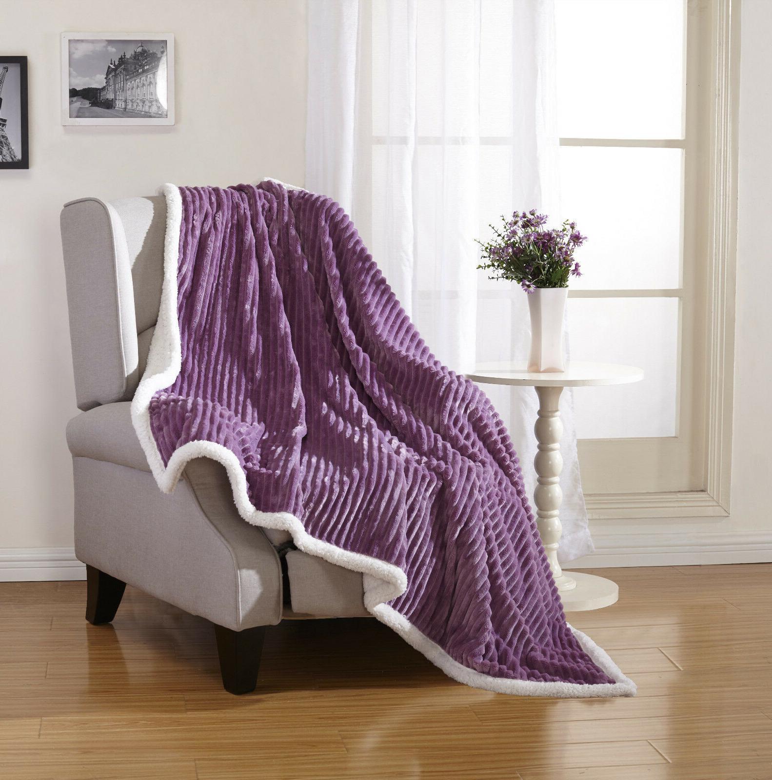 Ultra Reversible Ribbed Sherpa Blanket