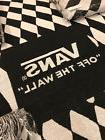 """VANS Woven Blanket """"Off The Wall"""" Black & White Checkered NE"""