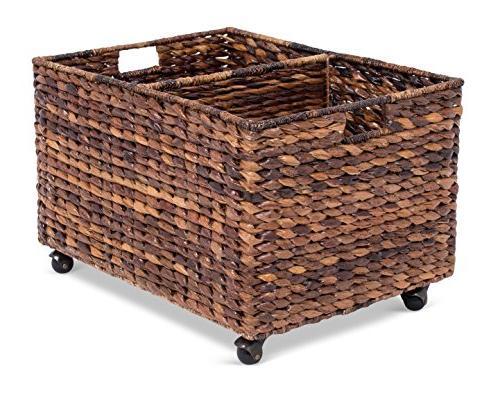 abaca rolling storage recycling bin