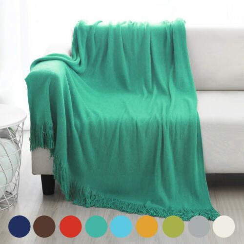 Soft Bed Couch Cover Fringe
