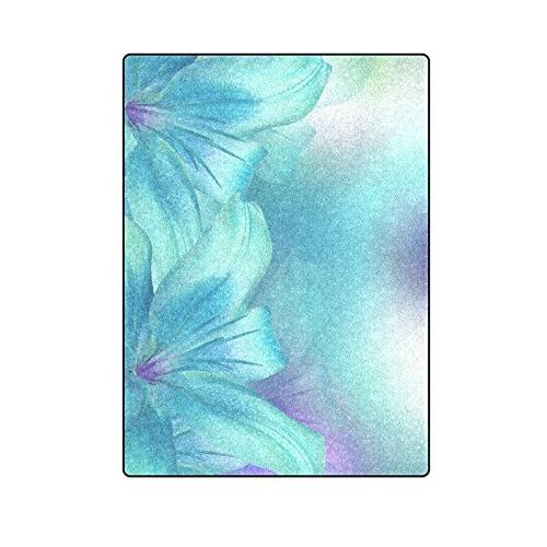 annhomeart blue turquoise soft fleece