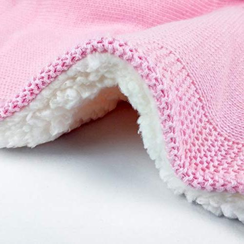 """Zebrum Blanket, 30""""x40"""" for Newborn/Infant/Kids, Double Layer, Felt Ears&Tail"""