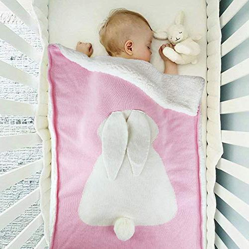 Zebrum Baby Cotton Blanket, for Thick/Soft/Cozy, Layer, Felt Ears&Tail