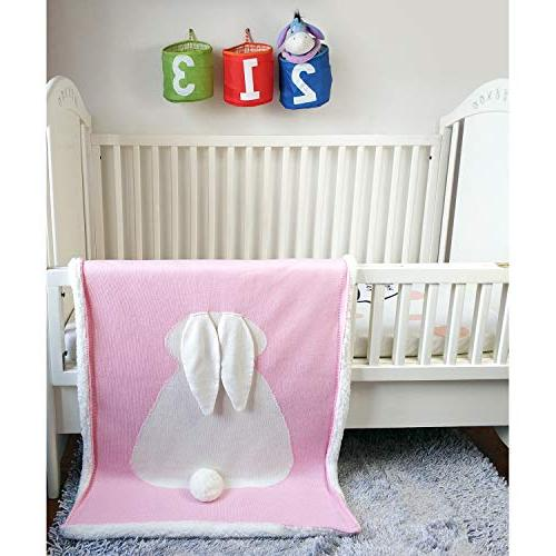 Zebrum Baby Blanket, for Newborn/Infant/Kids, Thick/Soft/Cozy, Layer, Felt Ears&Tail