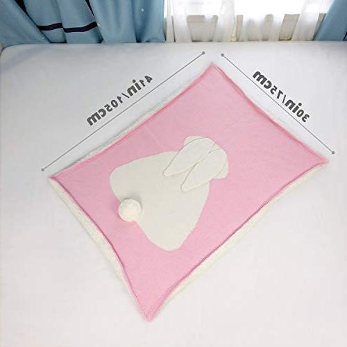 Zebrum Blanket, for Newborn/Infant/Kids, Double Layer, Felt Ears&Tail