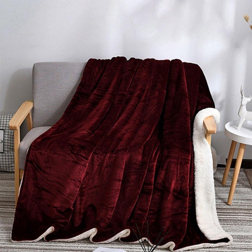 Bed <font><b>Blanket</b></font> Housewarming <font><b>Reversible</b></font> <font><b>Throw</b></font> <font><b>Blanket</b></font> Christmas Winter Warm