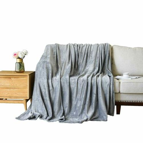 Throw Blanket Plush King Breathable Bed