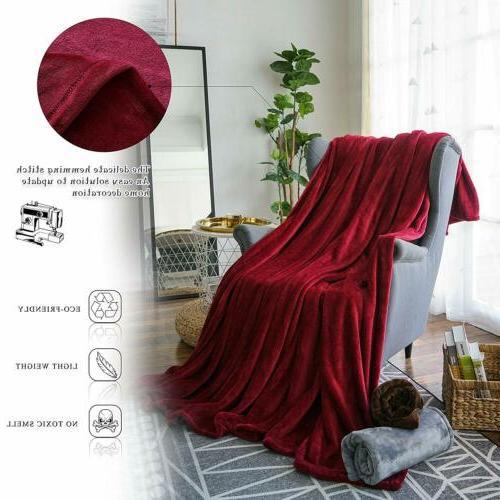 Throw Flannel Fleece Plush Soft King Breathable
