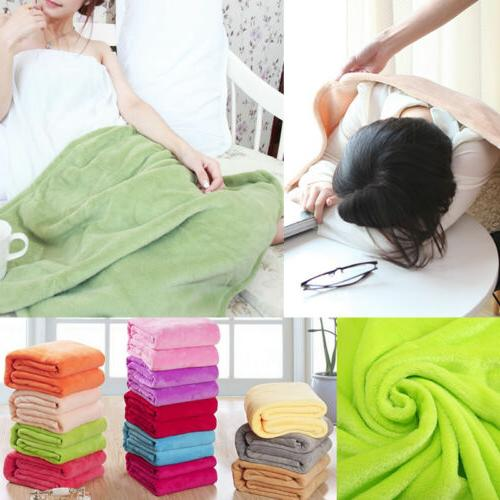 Bedroom Decor Solid Soft Warm Throws Rug Bedding Pink