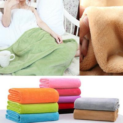 bedroom decor solid flannel soft warm plush