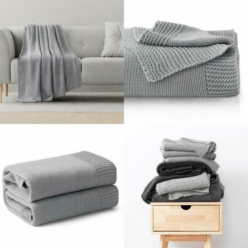 bedsure knitted throw blanket for sofa