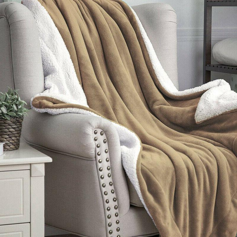 Bedsure Luxury Flannel Blanket Plush Blanket Throw Bed Microfiber