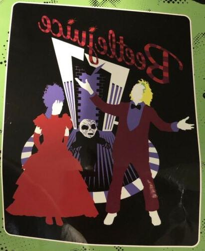 Beetlejuice Silhouette Super Plush Throw Blanket NWT!