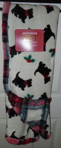 Berkshire Throw Blanket Scotties Dogs Black Scottish Terrier