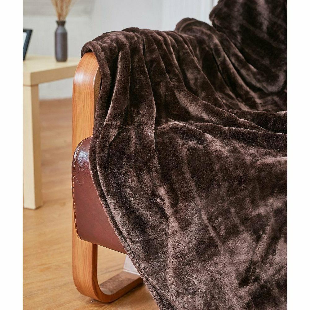 """Bertte Velvet Super Soft Stripe Throw Blanket-50""""x"""