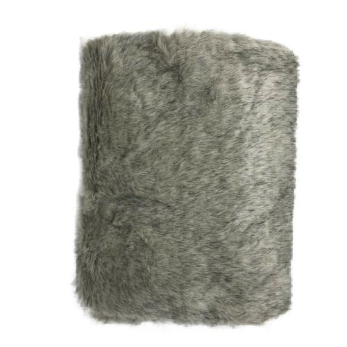 "Black and Fur Throw 30"" by Smple."