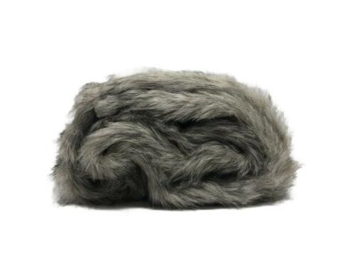 black and gray faux fur throw blanket