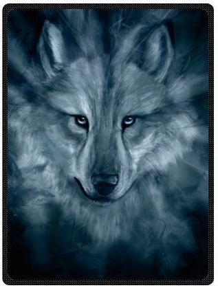 black white wolf super soft