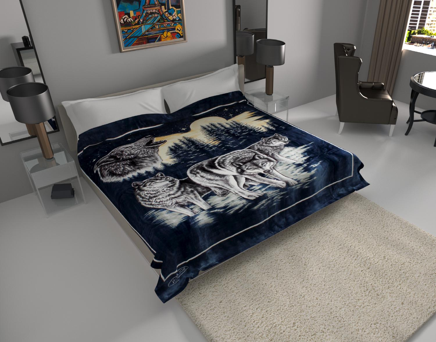 blanket throw thick ultra fine polyester mink