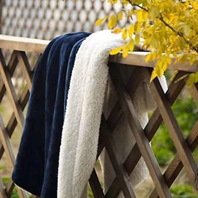 Blankets & Fleece Twin Size Blue Soft Microfiber