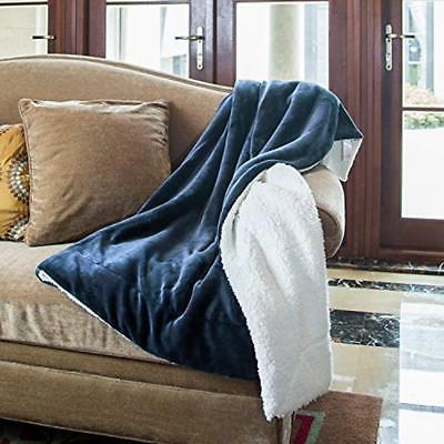 Blankets & Fleece Blue Fuzzy Soft Microfiber