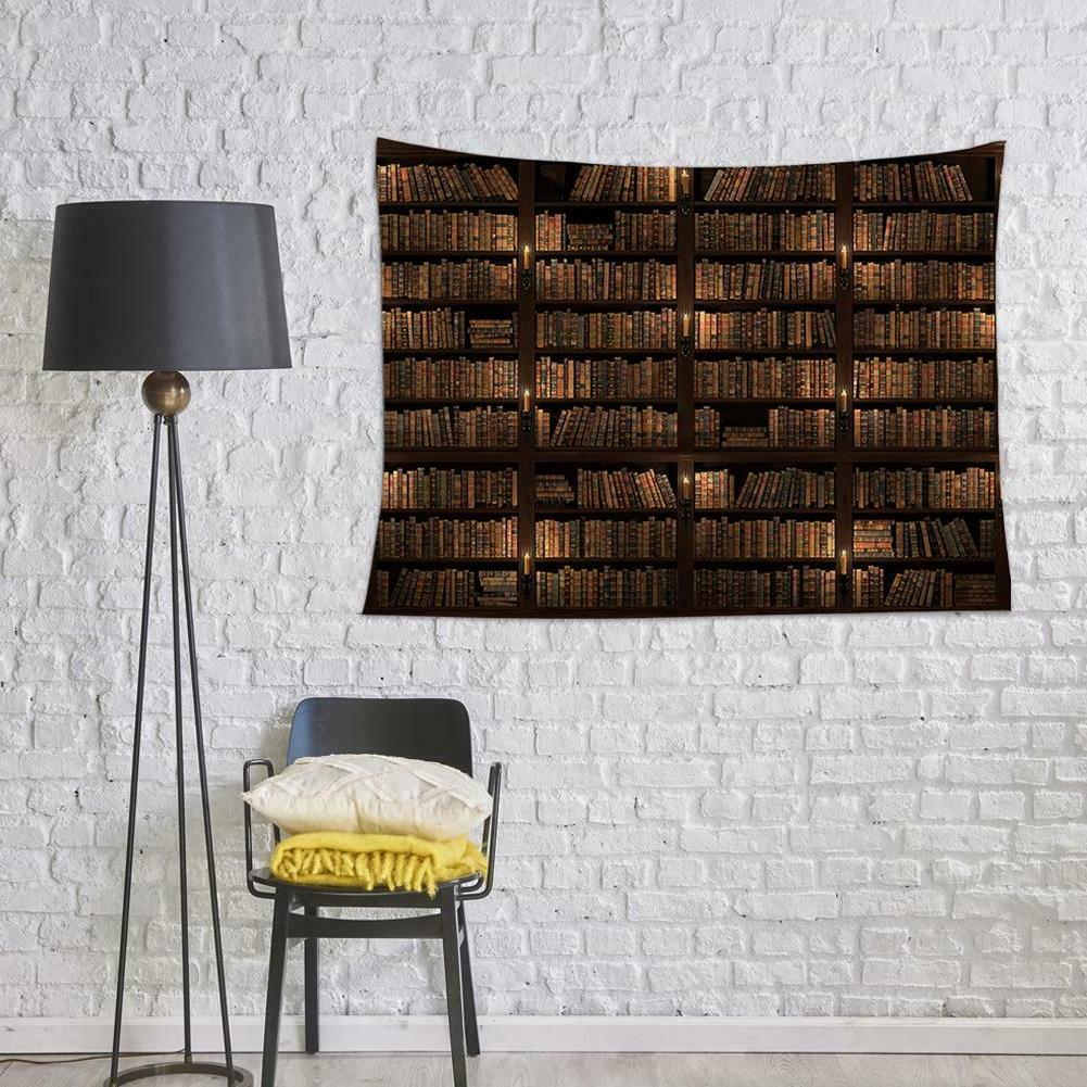 Bookshelf Wall Decor Vintage Blanket Mat