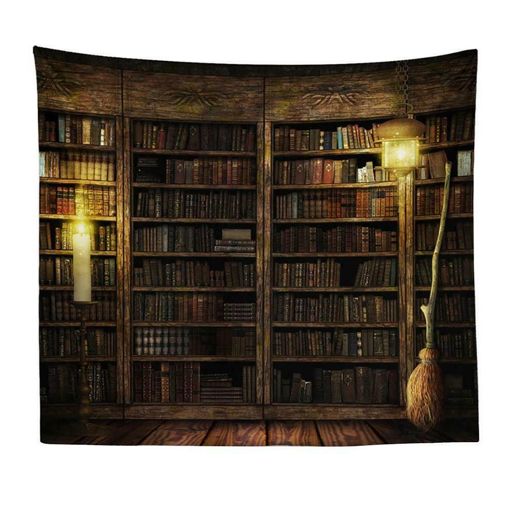 Bookshelf Tapestry Wall Hanging Decor Bedspread Blanket Mat