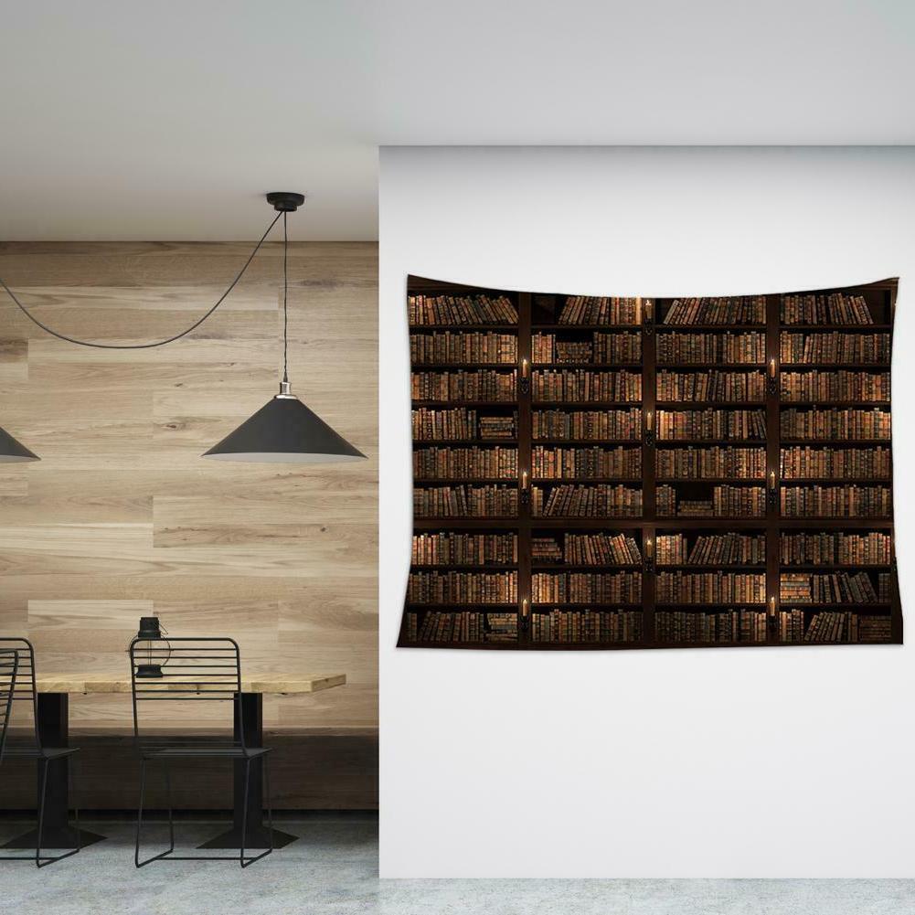 """Bookshelf Tapestry Decor Blanket 78X59"""""""