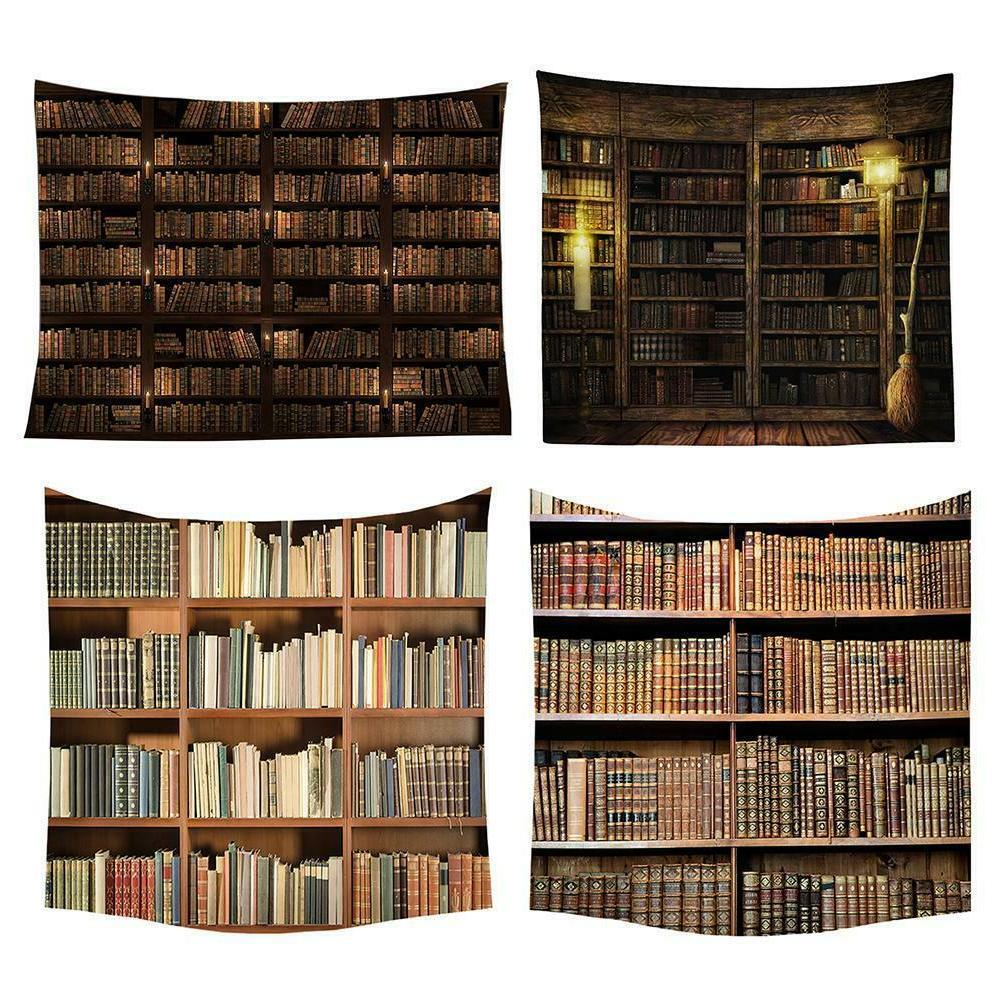 bookshelf tapestry wall hanging decor vintage bedspread