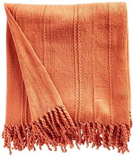 """Battilo Inc Cable Knit Woven Luxury With Ends 60"""""""