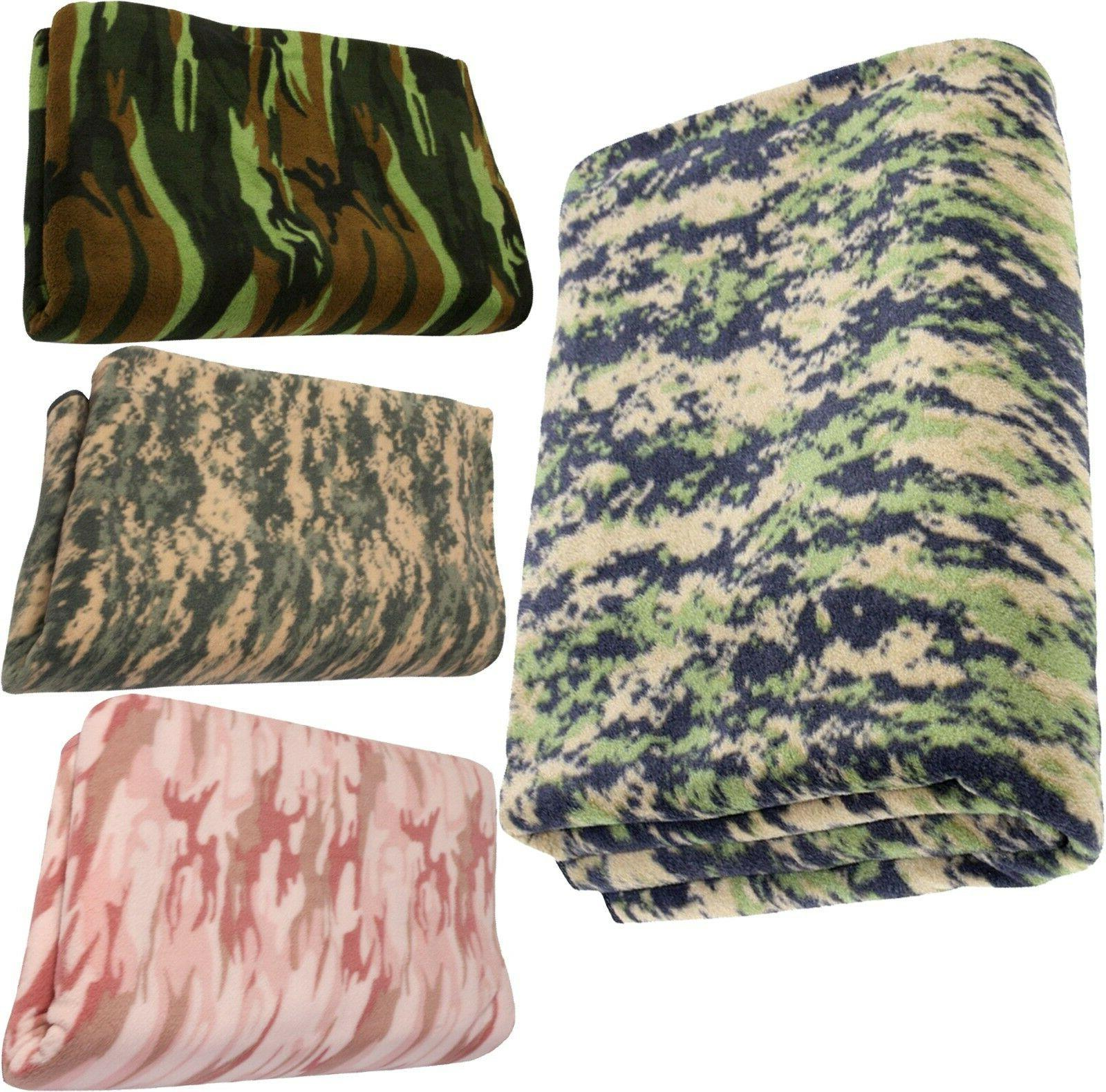camouflage polar fleece thick warm military camping