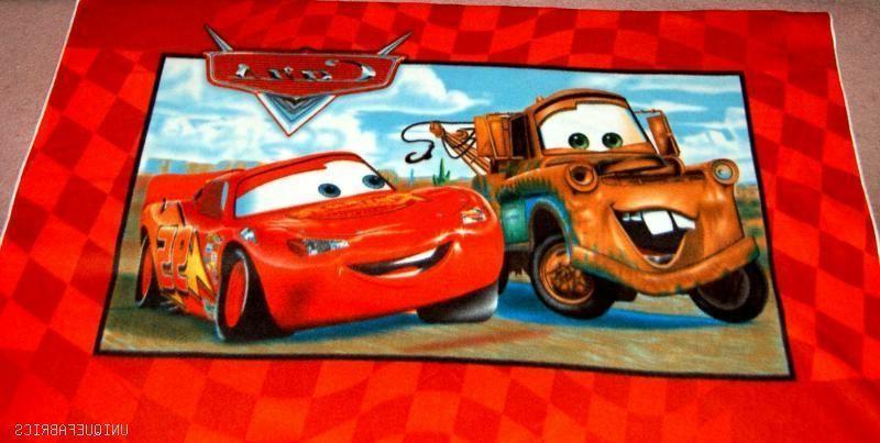 Cars Checkered Panel Fabric Throw/Wall